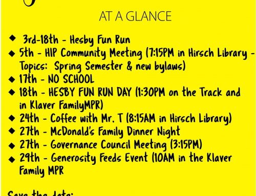 February at a Glance