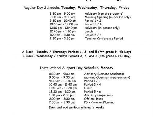 Hybrid Learning Schedules posted
