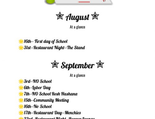 August and September at a Glance